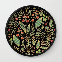 Lilly of Valley,  forest flowers Wall Clock