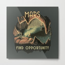 Mars: Find Opportunity Metal Print