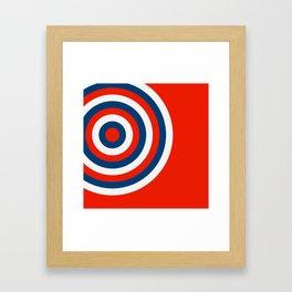 Retro Circles Pop Art - Red White & Blue Framed Art Print
