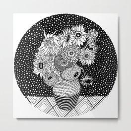 Van Gogh - Sunflowers Metal Print
