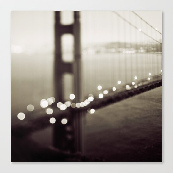 Meet Me In San Francisco (Black and White Edition)  Canvas Print