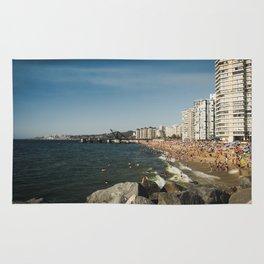 Beach in Viña del Mar Rug