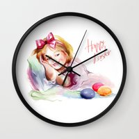 easter Wall Clocks featuring Easter by tatiana-teni