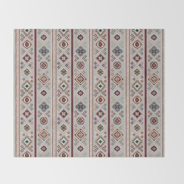 Caucasian Rugs(Stripe) - White Throw Blanket