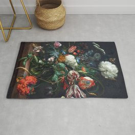 Jan Davidsz de Heem Vase of Flowers Rug