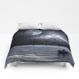 Fading Mountain Comforters
