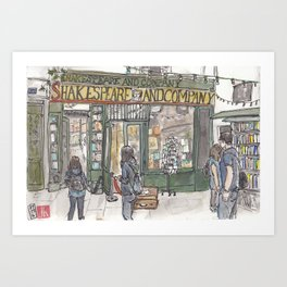 Shakespeare & Co. bookshop in Paris Art Print