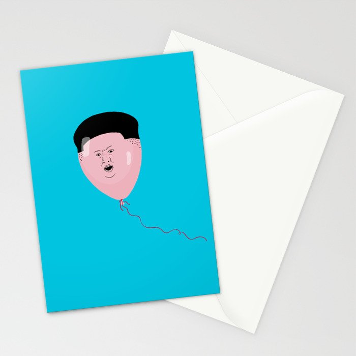 Kim Jong-Ball-Un Stationery Cards