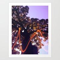 Tree Energy Art Print