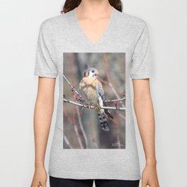 Angry Sparrowhawk (Kestrel) 4 Unisex V-Neck
