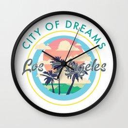 Los Angeles, City of Dreams Wall Clock