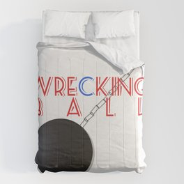 Wrecking Ball - Miley Cyrus Comforters