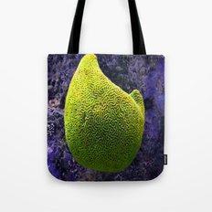 Lime green sea creature Tote Bag
