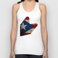 puerto rico Tank Tops featuring JDM puerto rico FLAG by designbook