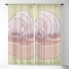 Maggie the Maggot Sheer Curtain