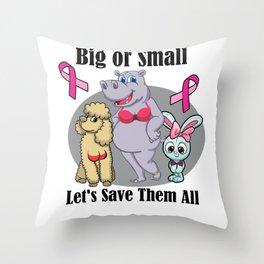 Funny Breast Cancer Awareness Art For Women Light Throw Pillow