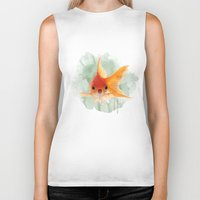 goldfish Biker Tanks featuring Goldfish by Sarah Sutherland