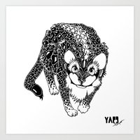 Black Cheetah Art Print