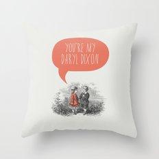 Walking Dead Love Story Throw Pillow