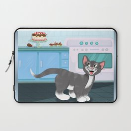 Kitty Spies A Tasty Surprise Laptop Sleeve