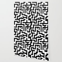 White and Black Labyrinth Wallpaper