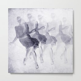 Dancing girls Metal Print