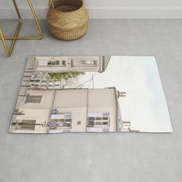 Paris, street view of Montmartre - charming France Rug