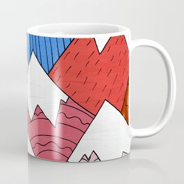 The Red Mountains (Pattern) Coffee Mug