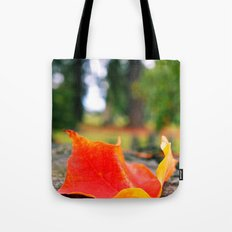 Cemetery Autumn leaf Tote Bag