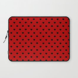 goat pattern red and black Laptop Sleeve