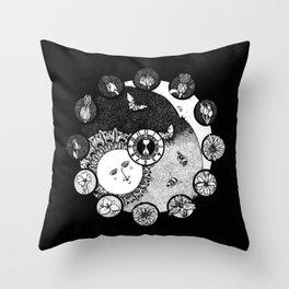 Victorian Flower Dial Throw Pillow