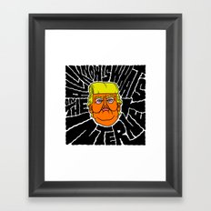 All Trump Knows is on the Internet Framed Art Print