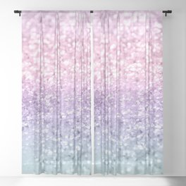 Unicorn Girls Glitter #1 #shiny #pastel #decor #art #society6 Sheer Curtain