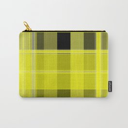 Yellow and Black Plaid Carry-All Pouch