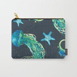 Watercolor Undersea Allover Print Design Carry-All Pouch