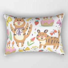 Tiger's Birthday Rectangular Pillow