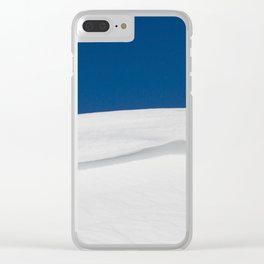 white snowdrift Clear iPhone Case