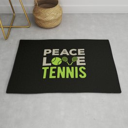 Tennis Funny Quote Rug