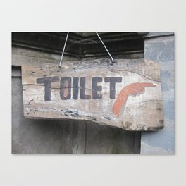 Sign to Toilet in Ubod, Bali, Indonesia (2010) Canvas Print