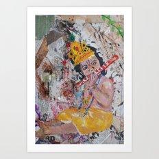Holi Baby Krishna  Art Print