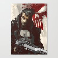 punisher Canvas Prints featuring Punisher by Shane Cook