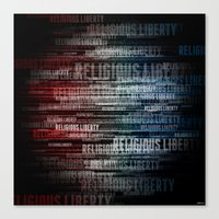 religious Canvas Prints featuring Religious Liberty by politics