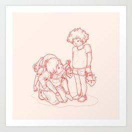 Little Big Shoulders Art Print