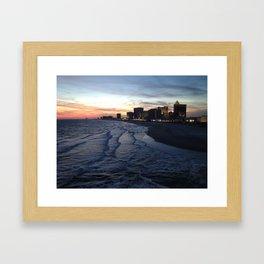 Atlantic City at Sunset Framed Art Print
