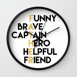 DEAR FATHER Fathers Day Quote Wall Clock