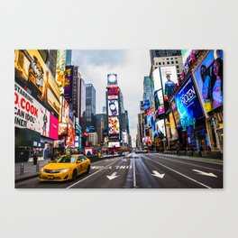 First light in Times Square Canvas Print