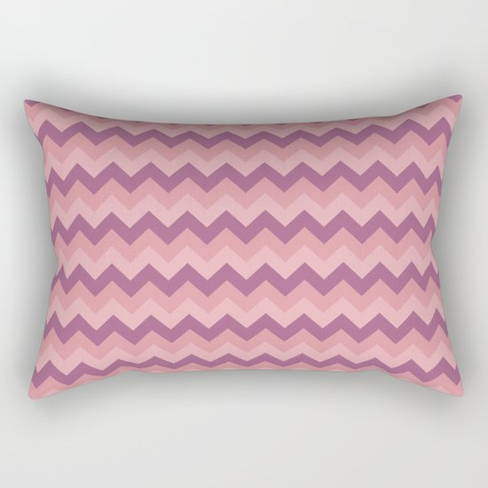 Colorful Chevron Pattern III Rectangular Pillow