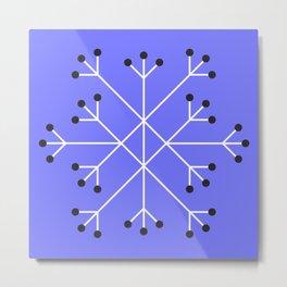 Mod Snowflake Purple Metal Print