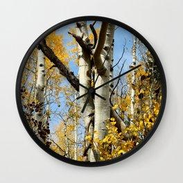 Aspens Tall and Gold Wall Clock
