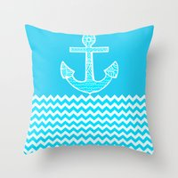 anchor Throw Pillows featuring Anchor by haroulita